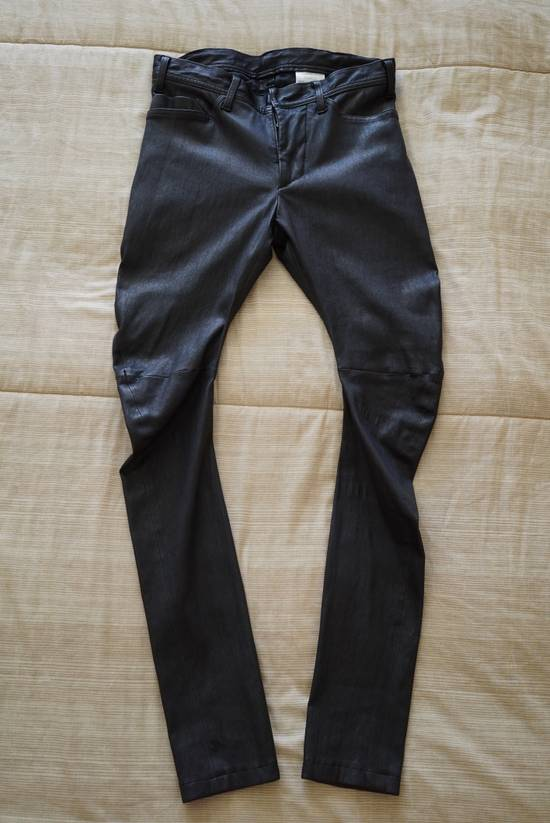 Julius Deerskin Leather Biker Pants Size US 30 / EU 46 - 3