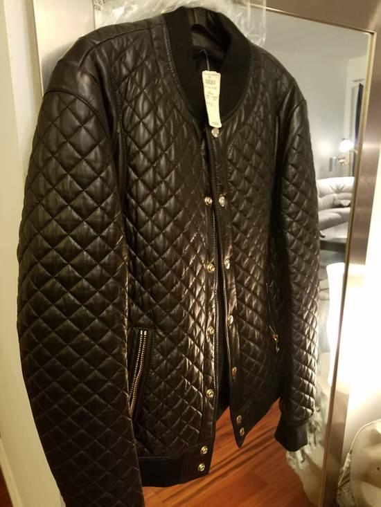 Balmain Balmain Quilted Leather Bomber Varsity Jacket Size 50 Black FW16/17 Brand New $5245 Size US M / EU 48-50 / 2 - 15