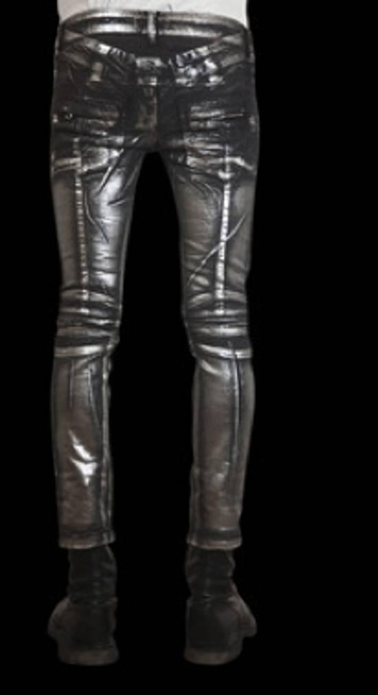 Balmain Silver stretch cropped pants Size US 33 - 2