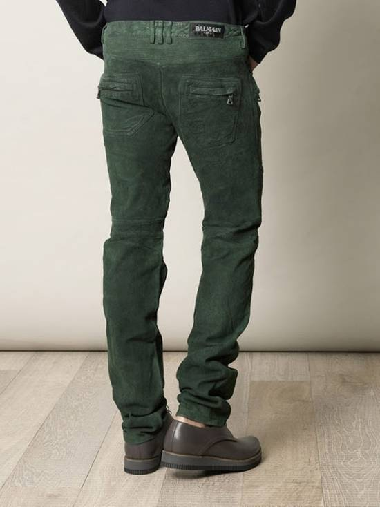 Balmain Suede biker pants Size US 34 / EU 50 - 2