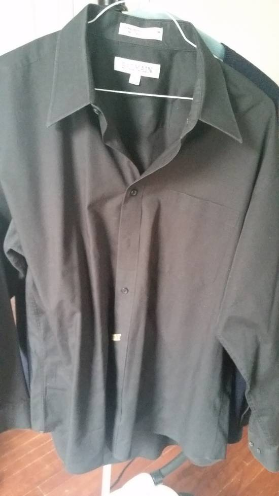 Balmain Black Dress Shirt Size US L / EU 52-54 / 3