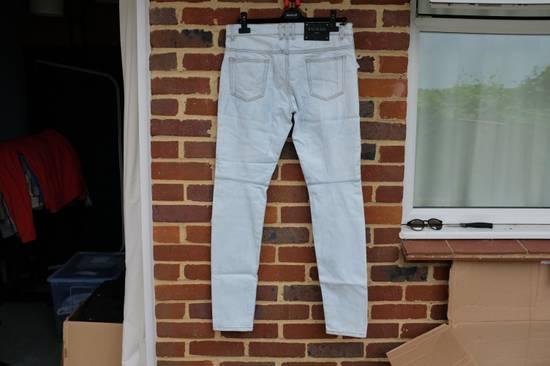 Balmain Light Blue Biker Jeans Size US 34 / EU 50 - 9