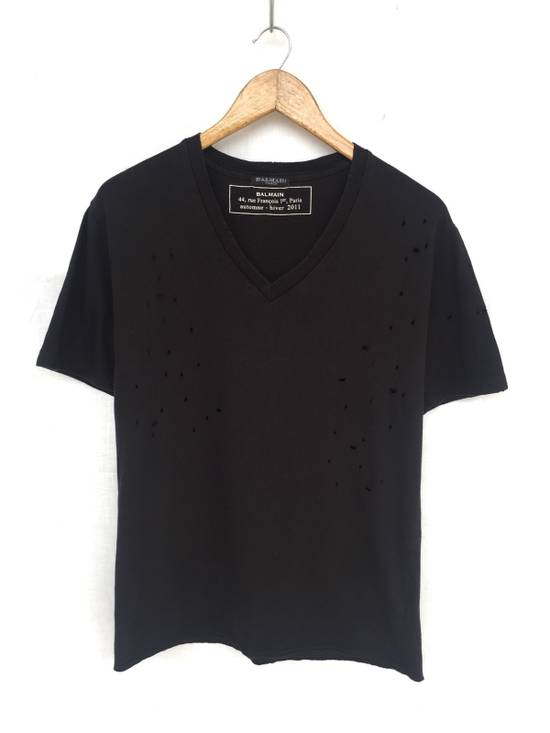 Balmain [ LAST DROP ! ] AW2011 Distressed Black Shirt Size US M / EU 48-50 / 2