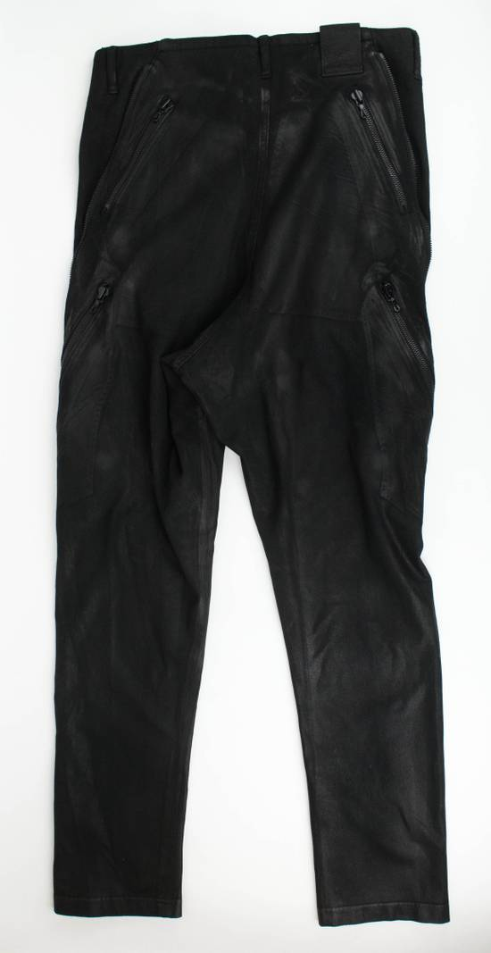 Julius 7 Black 'Coated Denim Stretch Zip Pocket' Baggy Jeans Pants 3/M Size US 34 / EU 50 - 3