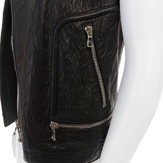 Balmain BALMAIN classic black pebble leather sleeveless biker jacket S FR46 US36 UK36 Size US S / EU 44-46 / 1 - 9