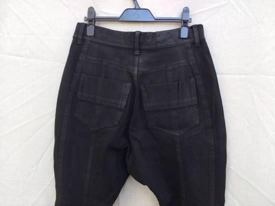 Julius Black Knit Denim Waxed Drop Crotch Jeans Size US 29 - 3