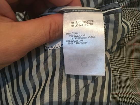 Thom Browne Men's Grey Black & White Prince Of Wales Wool Jacket Size US M / EU 48-50 / 2 - 6