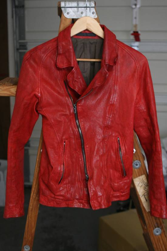 Julius FW09 'protectionism' Red Lambskin Rider Size 2 Size US S / EU 44-46 / 1