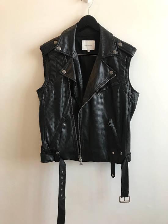 Balmain $1200 Last Drop Before Delete Perforated Eco Leather Vest Black Size US M / EU 48-50 / 2 - 5