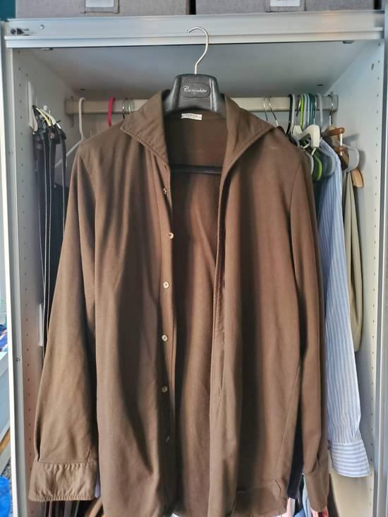 Eidos Napoli EIdos Lupo Brown Knit Button Up Shirt Size US M / EU 48-50 / 2 - 1