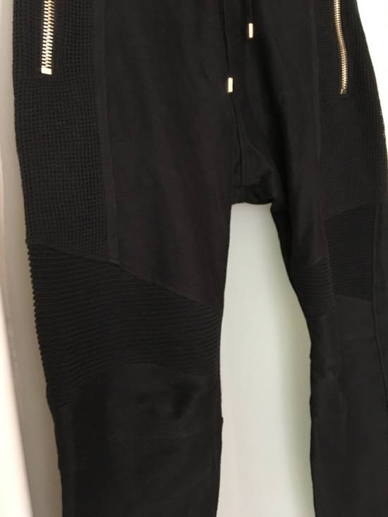 Balmain Slim-fit Taped Cotton- Jersey biker Swetpants Size US 31