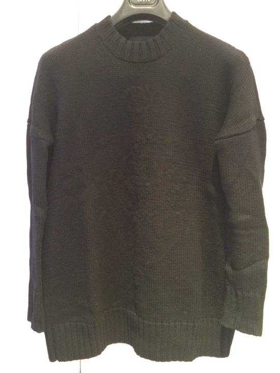 Givenchy FW09 Oversized Black Sweater Anchor Intarsia Size US XS / EU 42 / 0 - 1