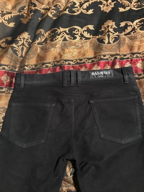 Balmain Black Moleskin Denim Size US 30 / EU 46