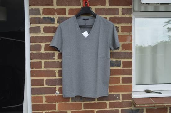 Balmain Grey Distressed V-Neck T-shirt Size US M / EU 48-50 / 2
