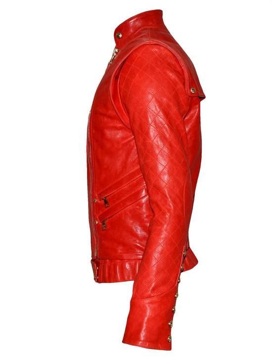 Balmain Layered Biker Leather Jacket Size US M / EU 48-50 / 2 - 3