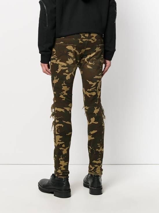 Balmain Size 36 - Heavily Distressed Camo Biker Jeans - FW17 - RARE Size US 36 / EU 52 - 17