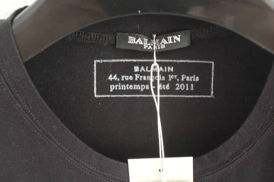 Balmain SS11 Decarnin Era Black Sleeveless Metal Pin Shirt Hand Made New Size US M / EU 48-50 / 2 - 2