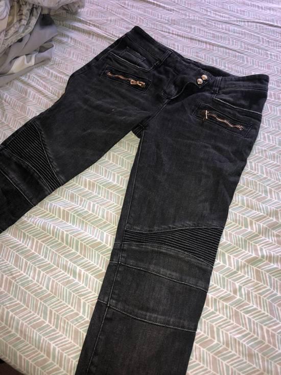 Balmain Denim Moto Jeans, Black Size US 28 / EU 44 - 1