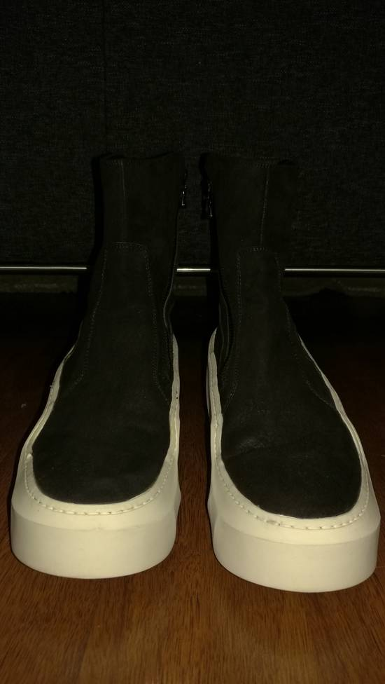 Julius HI Top Goat Nubuck Coated Polygon Platform Sneakers Size US 11 / EU 44 - 1