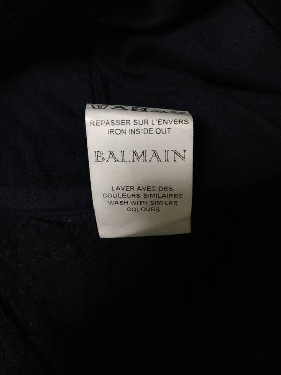 Balmain Midnight Blue Waxed Embroidered Jeans Size US 27 - 10