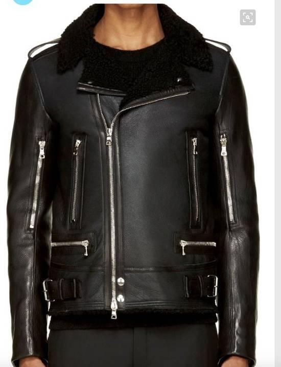 Balmain shearling leather biker jacket Size US M / EU 48-50 / 2 - 2