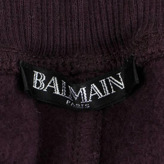 Balmain Men's Burgundy Cotton Leggings Biker Pants Size Large Size US 36 / EU 52 - 4