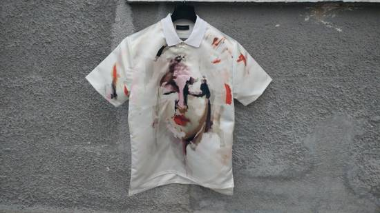 Givenchy Givenchy Satin Graffiti Abstract Madonna Rottweiler Shark Polo T-Shirt size XL Size US XL / EU 56 / 4