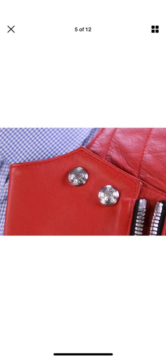 Balmain H&M x Balmain Red Leather Biker Jacket Size US S / EU 44-46 / 1 - 3