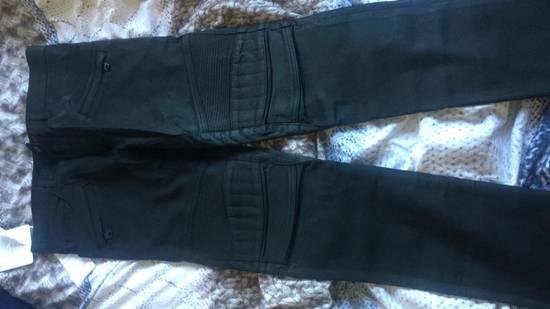Balmain Balmain Black Denim Coated Authentic Biker $1230 Jeans Size 31 New Size US 31 - 5