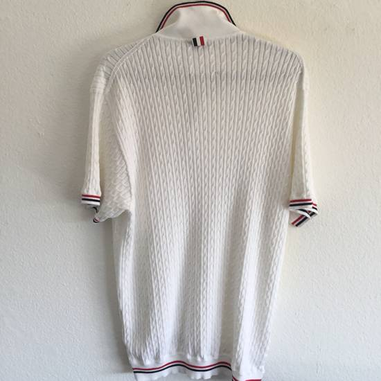 Thom Browne WED-THURS SALE $1190 THOM BROWNE CABLE KNIT POLO SHIRT JUMPER NEW rare Size US XL / EU 56 / 4 - 4