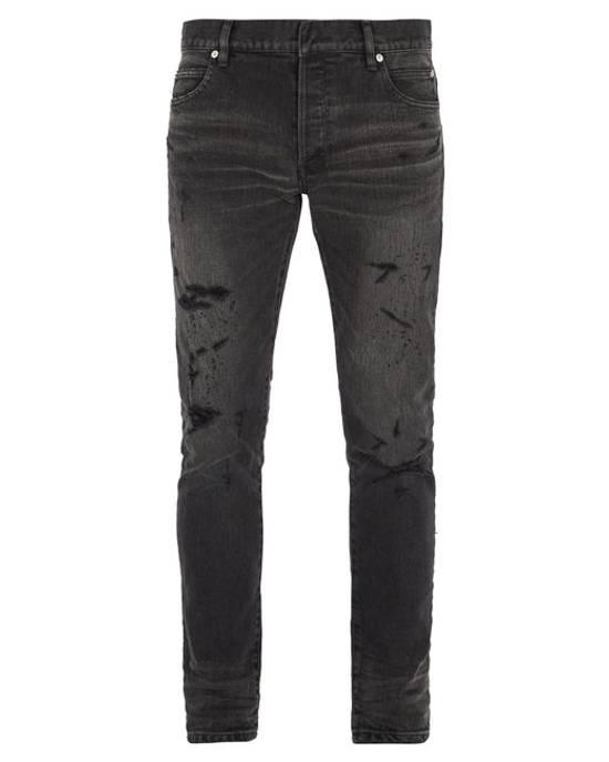 Balmain ARCHIVE Pierre Balmain biker destroyed slim jeans Size US 32 / EU 48