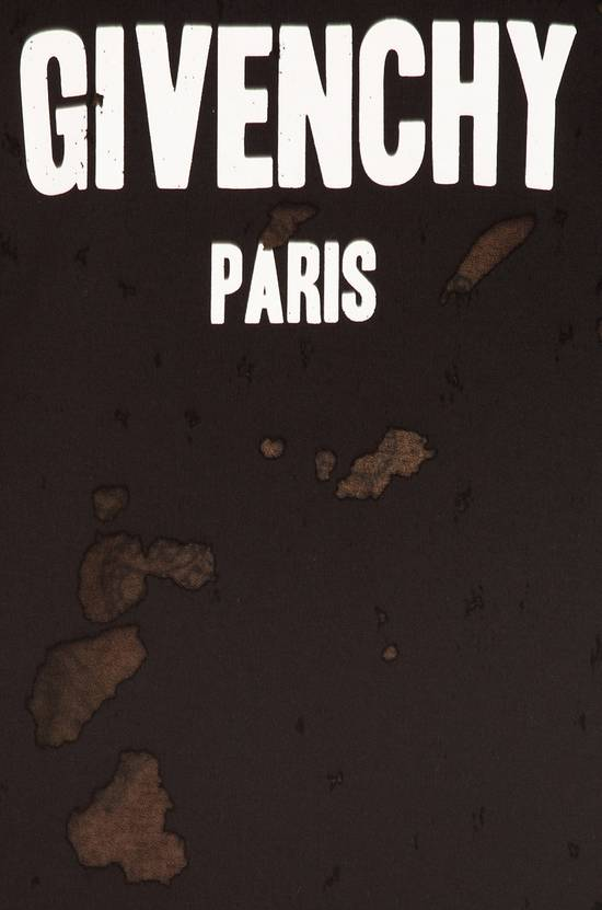 Givenchy Givenchy Black Destroyed Distressed Logo Oversized Shark T-shirt size M (XL) Size US M / EU 48-50 / 2 - 4