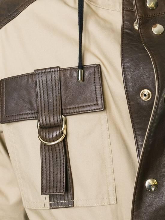 Balmain Leather and canvas hooded safari jacket Size US L / EU 52-54 / 3 - 6