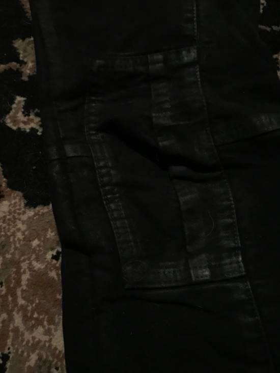 Balmain Balmain Black Moleskin Skinny Bikers Size US 27 - 4