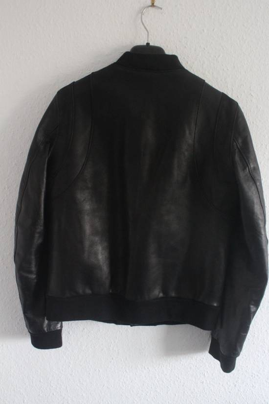Balmain SS11 Decarnin Teddy Varsity Black Leather Jacket Kanye West 1of1 Size US L / EU 52-54 / 3 - 6