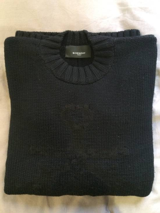 Givenchy FW09 Oversized Black Sweater Anchor Intarsia Size US XS / EU 42 / 0 - 3