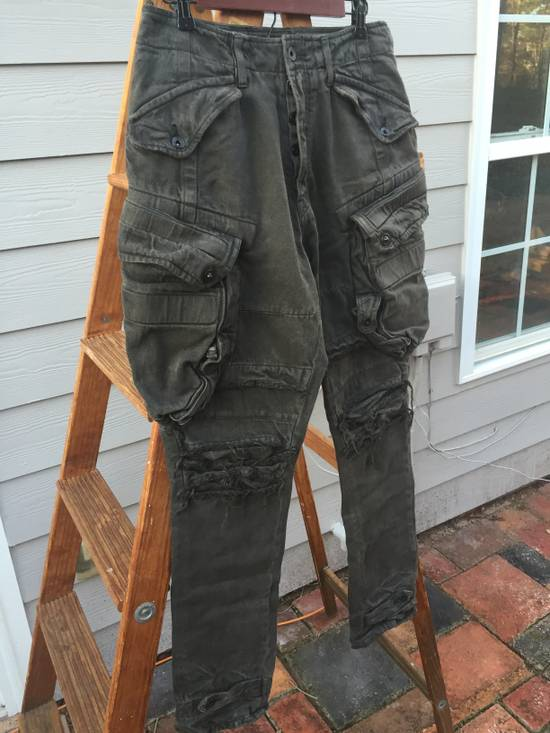 Julius FW12 Heavy Denim Distressed Gasmask Cargos Size US 32 / EU 48 - 1