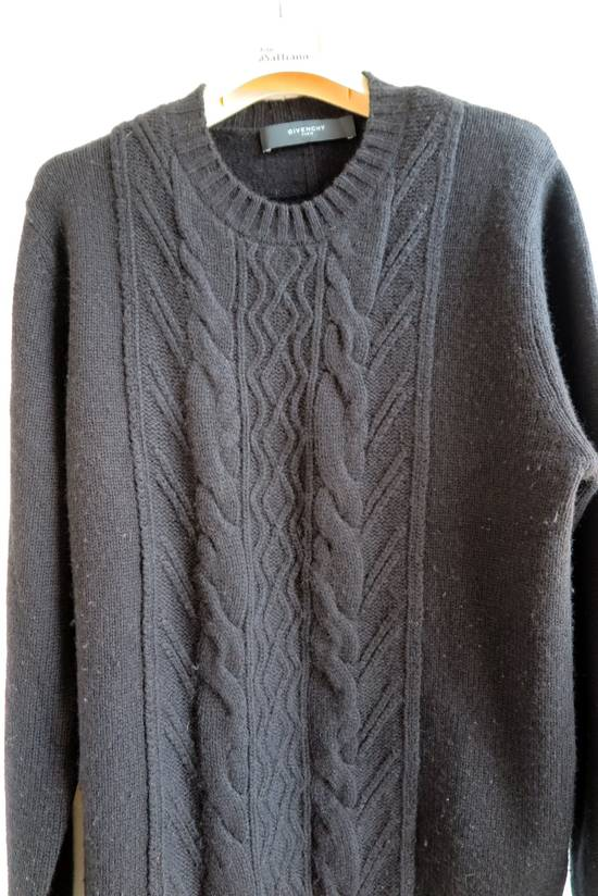 Givenchy GIVENCHY BLACK CASHMERE WOOL CABLE KNIT SWEATER Size US S / EU 44-46 / 1 - 2