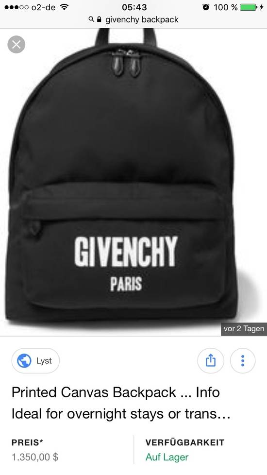 Givenchy Logo backpack, brand new- Retail 1350$!! Size ONE SIZE - 3