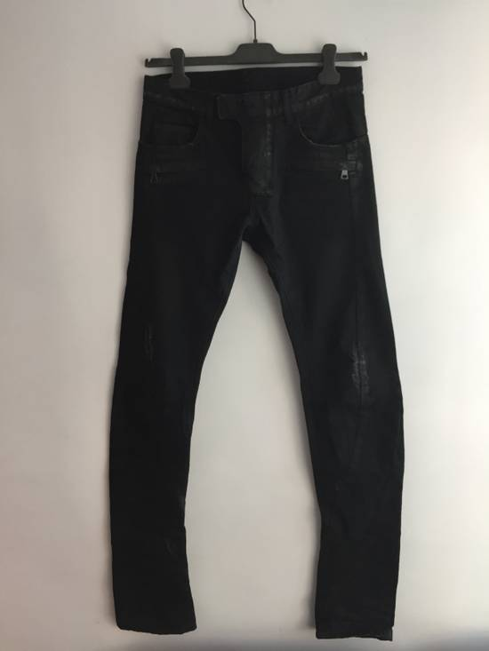 Balmain Distress Waxed Jeans Size US 28 / EU 44
