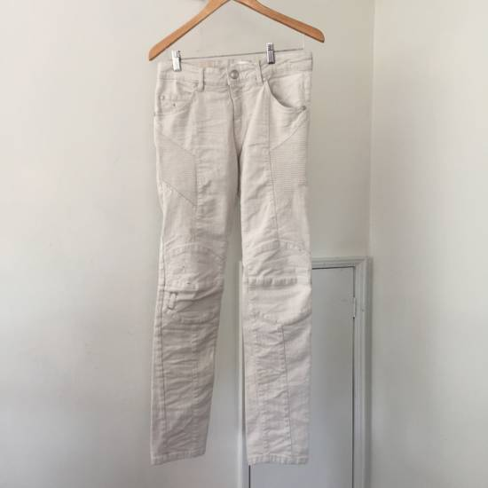 Balmain Distressed off-white biker jeans (NWT) Size US 31