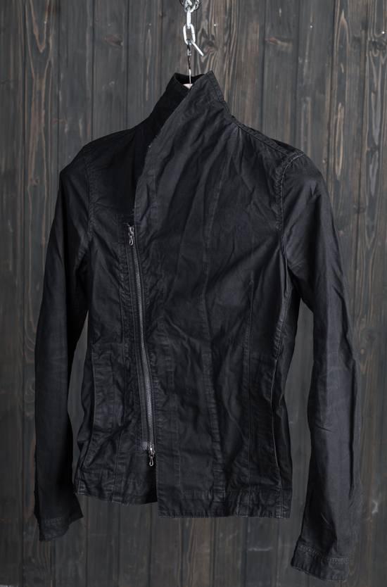 Julius high neck asymmetric zip waxed denim jacket Size US S / EU 44-46 / 1 - 1