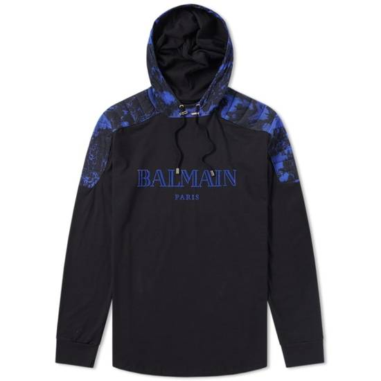 Balmain LAST DROP Balmain Paris Black and Blue Hoodie Size US S / EU 44-46 / 1