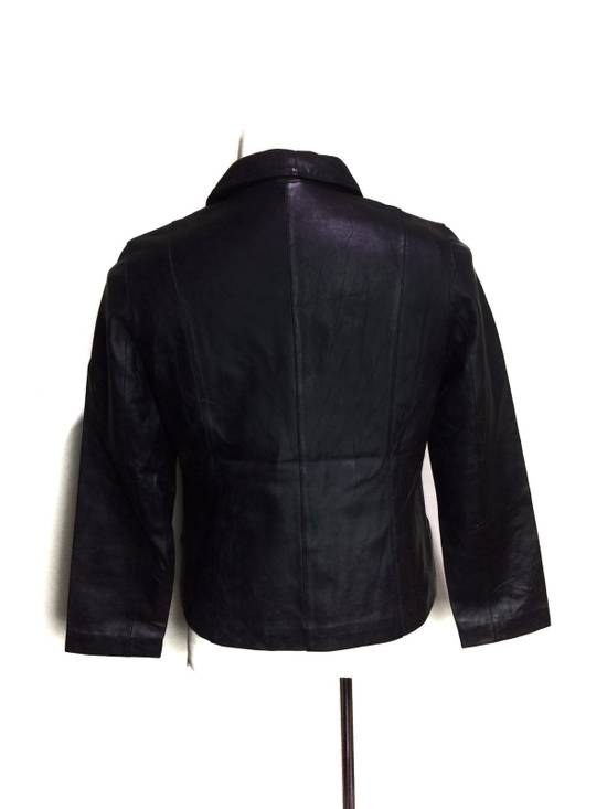 Balmain BALMAIN Paris Black Leather Biker Rockers Rockabilly Cafe Racer Jacket Size US M / EU 48-50 / 2 - 1