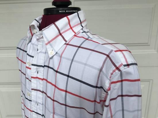 Thom Browne Red/Blue Windowpane Oxford Shirt L/S Size US S / EU 44-46 / 1 - 2
