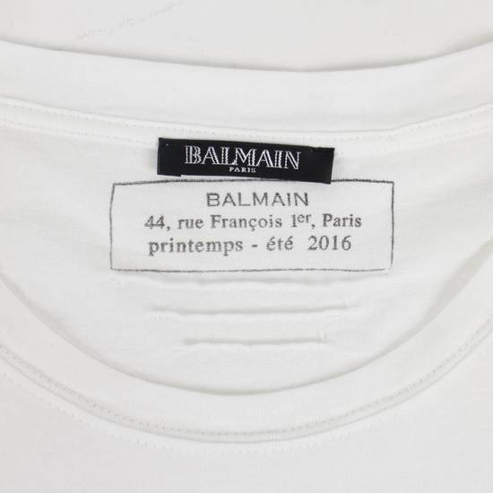 Balmain White Cotton Short Sleeve Embellished T-Shirt Size L Size US L / EU 52-54 / 3 - 4