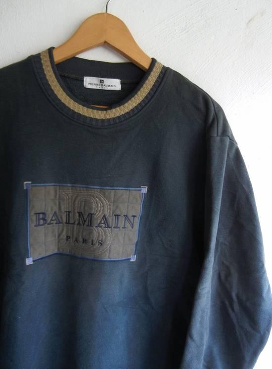 Balmain [NEED IT GONE BY TODAY] 90s Pierre Balmain Retro Green Sweatshirt Medium sz Size US M / EU 48-50 / 2 - 6