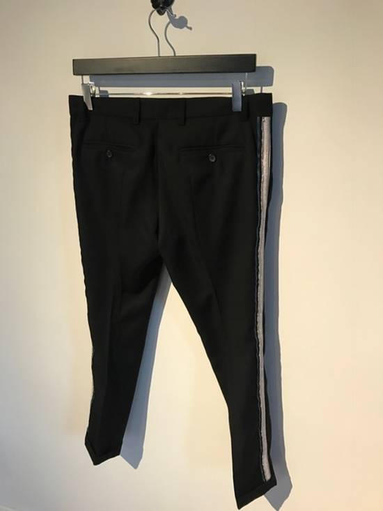 Balmain Balmain Black Tuxedo Band Trousers Size US 30 / EU 46 - 2