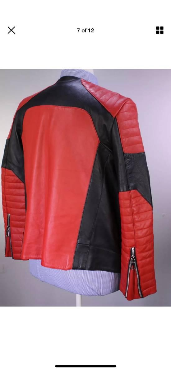Balmain H&M x Balmain Red Leather Biker Jacket Size US S / EU 44-46 / 1 - 6