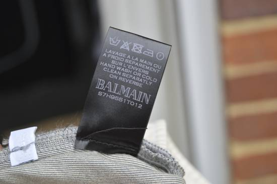 Balmain Grey Distressed Biker Jeans Size US 31 - 6